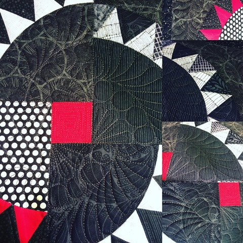 Assemblage of the quilted blocks